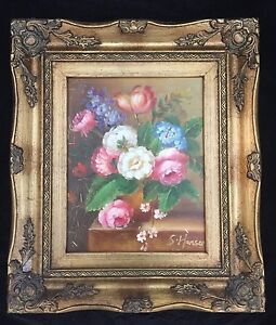 STILL LIFE OIL ON BOARD  SIGNED LOWER RIGHT S.HANSON, SIZE 37X31 cm