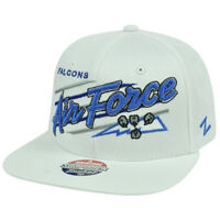 NCAA Falcons Air Force Zephyr Upshot White Flat Bill Adjustable Snapback Hat Cap