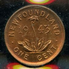 1943 C Newfoundland 1 Cent Coin - ICCS MS63 Red Cert #XTK 835