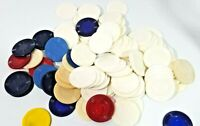 90+ Vintage Blue & Red Clay Poker Chips