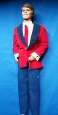 Vintage 1968 Brunette Ken Doll Maroon Velvet Tuxedo Jacket Pants Shoes Clothing