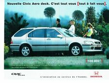 Publicité Advertising 087  1998  Honda   nouvelle Civic Aero deck