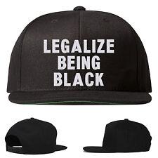 legalize being black snapback hat