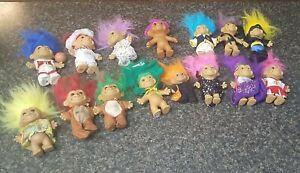 Vintage Russ & Tollkins Troll Dolls Lot of 15 Trolls