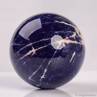 653g 82mm Large Natural Blue Sodalite Quartz Crystal Sphere Healing Ball Chakra