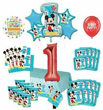 Mayflower Products Mickey Mouse 1st Birthday Party Supplies 8 Guest Decoration