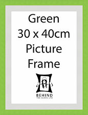 Handmade Green Wooden Picture Frame With Mount - 30 x 40cm