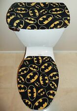 BATMAN Logo Signal Fleece Fabric Toilet Seat Cover Set Bathroom Accessories