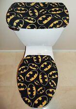 BATMAN Logo Signal Fleece Fabric Toilet Seat Cover Set Bathroom Accessories