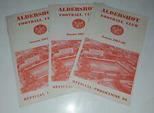 ALDERSHOT FC HOME FIXTURES FOOTBALL PROGRAMMES 1967-1968