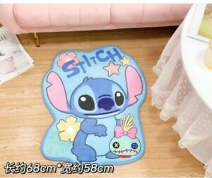 lilo&stitch blue fuzzly Floor Mat Home Carpets Bedroom Rug mas rugs model