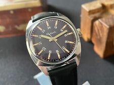 Rare mens 24 hr vintage watch Raketa 19J USSR serviced  2609.ha blue dial