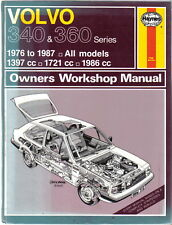Volvo 340 & 360 Series 1976-1987 Haynes Workshop Manual 340, 343, 345, 360 1988