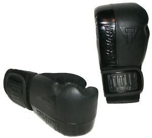 Title BLAST Black Hook Loop Heavy Bag Sparring Boxing Gloves 16 oz BKBSTBG EUC