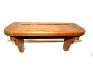 """Vintage Hand Made Stained Wood Wall Hanging Shelf 14"""" x 7"""" x 5"""" Deep"""