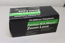 75-200mm Toyo Telephoto Lens for Pentax K-A Mount Zoom Lens NIB  f/4.5
