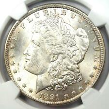 1891-CC Morgan Silver Dollar $1 - Certified NGC Uncirculated Detail (UNC MS)!