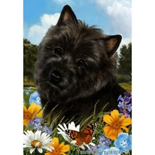 Summer House Flag - Black Cairn Terrier 18327