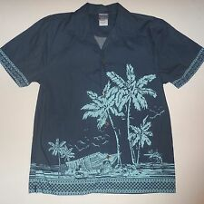 Mens Disney Store Tiki Kingdom Mickey Mouse Hawaiian Tropical Cruise Shirt Small