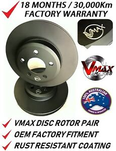 fits BMW X3 F25 2010 Onwards REAR Disc Brake Rotors PAIR