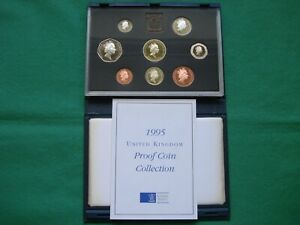 Royal Mint 1995 UK Proof Coin Collection - Blue case including COA