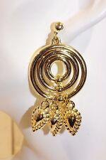 Ohrstecker NEU Ohrringe gold rund elegant Vintage Retro 80er Modeschmuck