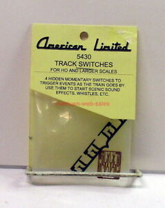 American Limited~HO,S,O~#5430~Hidden Track Switches~Momentary~Special Effects