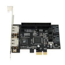 PCIe a 2x SATA 2.0 + Ide 40pin + 2x Adaptador controlador de disco duro eSATA Tarjeta Raid