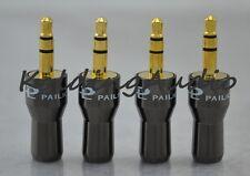 "10P Pailiccs Gold 3.5mm 1/8"" Stereo Male Plug Metal Bevel Face Audio Connectors"