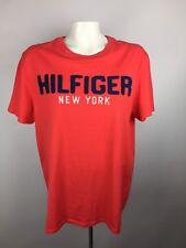 Tommy Hilfiger New York Sz M T-Shirt Red HILFIGER is sewn on Navy Blue