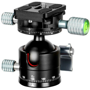 E2+H2 Tripod Ballhead double Panoramic Head with Quick Release Plate For Camera