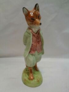 Royal Albert Foxy Whistered Gentleman Fox Beatrix Potter Figurine Doulton