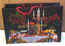 GENUINE DOLCE & GABBANA D&G LARGE PAPER BAG PARTY CELEBRATION CANDLES ROSES XMAS