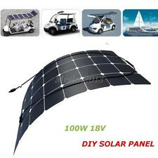 DIY 100W 18v Semi Flexible Energy Solar Panel For Battery Charger Boat Caravan