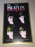 Rare 20 x 13 The Beatles Shea Stadium Poster Print 1966 1980's CA002 Small Size!
