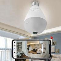 360° Panoramic SPY Hidden wifi Camera Light Bulb Home Security IP CAM Lamp K