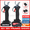 🔥 36V/88V Cordless Rechargeable Electric Pruning Shears Secateur Branch Cutter