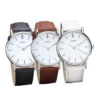 Geneve Womens Retro Design Leather Band Watch Analog Alloy Quartz Wrist Watch