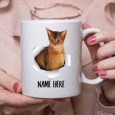 Funny Personalized Abyssinian Cat Ruddy Custom Name Coffee Mug