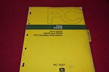 John Deere 40KW 55KW PTO Standby Alternators Dealer's Parts Book LCPA