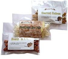 Good Degu Treats-  Rice puff, Beetroot Bites, Carrot Cubes. Small pet treats.
