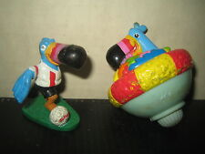 """2 RARE HTF COLLECTABLE FRUIT LOOPS DUCAN FIGURES  """" SOLD AS IS """""""