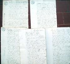 1841 LOTTO DOCUMENTI DI ACQUISTO DI CASE A GIAVENO TORINESE LUMIANA AVIGLIANA