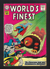 WORLD'S FINEST #118  VERY GOOD 4.0!   BRIGHHT PINK COVER!   1961