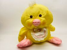 Vintage 80s Fisher Price Puffalump Yellow Stuffed Duck With Bib NICE