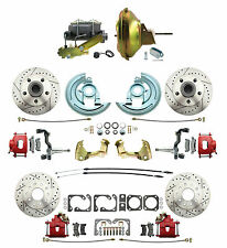 1968-69 Camaro F- Body Performance Front & Rear Disc Brake Kits, Red Caliper