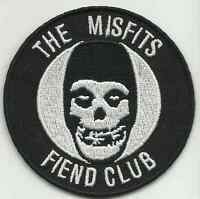 MISFITS fiend club 2014 - circular - EMBROIDERED IRON/SEW ON PATCH import
