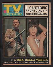 SORRISI 25/1966 PAOLI SANDRELLI MOTTA ANQUETIL GIMONDI CANTAGIRO + FIGURINE