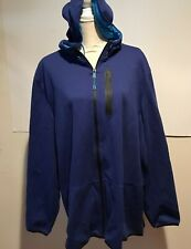 Men's Russell Athletic Blue Zippered Hooded Sweatshirt Size 2XL