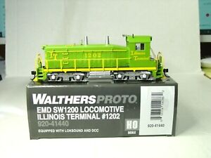 WALTHERS PROTO HO SCALE EMD SW1200 LOCOMOTIVE ILLINOIS TERMINAL 920-41440